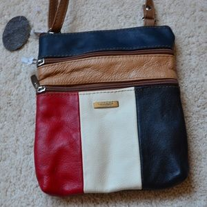2bdbf6d0fb Bags - LORENZ Genuine Leather Patchwork Crossbody Bag